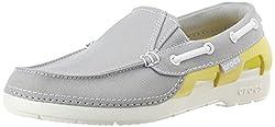Crocs Unisex Beach Line Hybrid Boat Shoe GS Canvas Boat Shoes