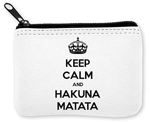 Keep Calm and Hakuna Matata Monedero de la Cremallera de la Moneda