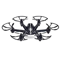 TOZO reg; MJX X800 2.4GHz 6 Axis RC Remote Control Hexacopter UFO Drone 3D Roll with Gravity Sensor Remote Quadcopter Helicopter (Without Camera)-Black