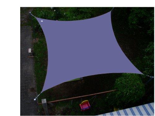 Coolaroo Sonnensegel Viereck 3,6 m Farbe grau blaugrau NEU