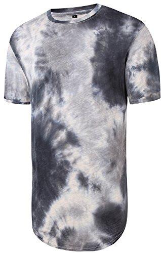 pizoff-unisex-hip-hop-basic-long-t-shirts-distressed-with-batik-floral-print-y1726-03-l