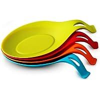 ORBLUE 4 Reposa-cucharas de silicona flexible en forma de almendra