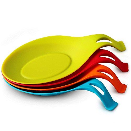 ORBLUE Kochlöffelablage aus Silikon im farbenfrohen 4er Pack