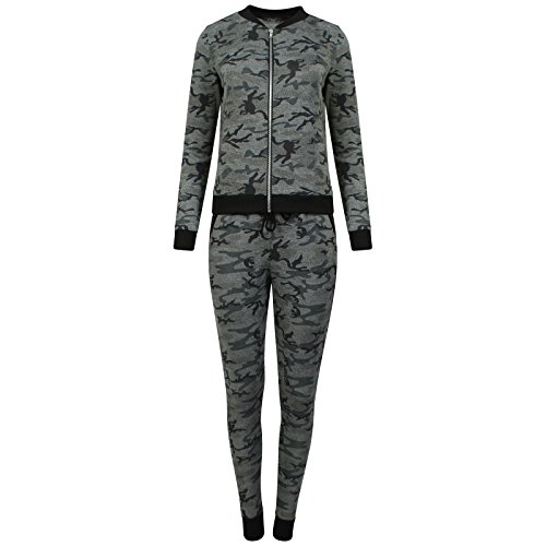 MISS BOHO CHIC - Survêtement - Femme multicolore Multicoloured S/M, M/L Camouflage-Khaki