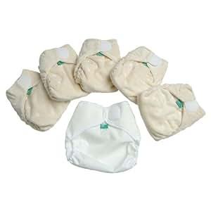 TotsBots - Pannolino elasticizzato lavabile, taglia 2, mini confezione da 5 (3-16 kg)