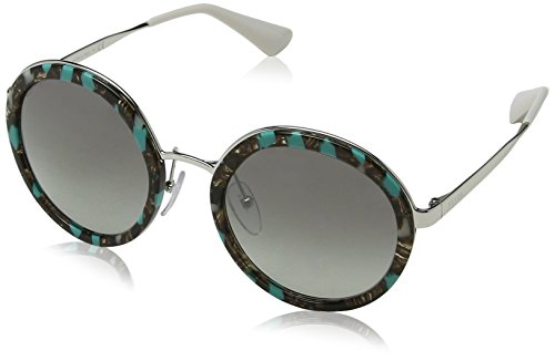 Prada Damen 0PR50TS KJJ5O0 54 Sonnenbrille, Grün (Striped Green/Grey Silver)