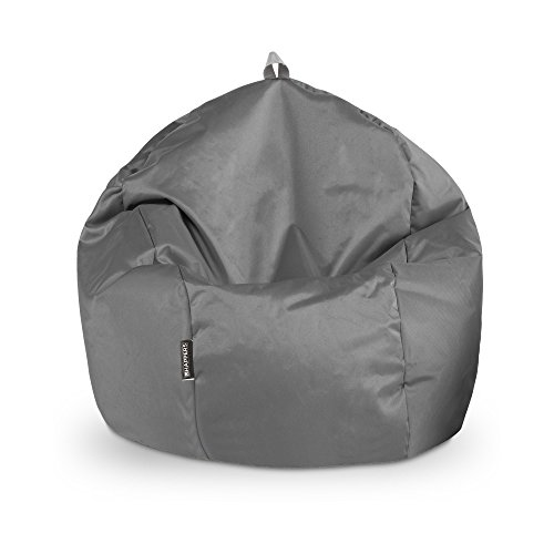 HAPPERS Puff Pelota Naylim Impermeable Gris