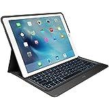 Logitech CREATE Tastatur-Case (mit Hintergrundbeleuchtung für 12.9 Zoll iPad Pro, automatischem Ein-/Ausschalten und Smart Connector (UK International QWERTY Tastaturlayout)) schwarz