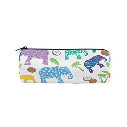 Ahomy - Estuche para lápices, diseño de elefantes tropicales de verano