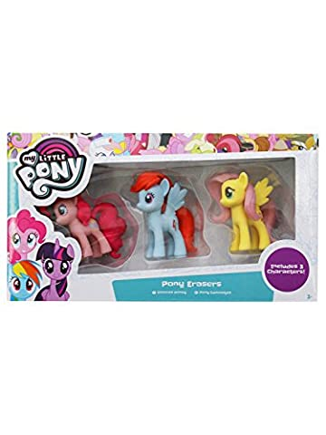 My Little Pony Girls Figurine Character Erasers Pinkie Pie Rainbow Dash Fluttershy Three Pack Multicolour One