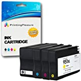 4 Compatible Ink Cartridges Replacement for HP 950XL / HP 951XL for HP Officejet Pro 8600 8100 8610 8620 8630 8640 8660 251dw 276dw, High Capacity