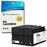 Printing Pleasure 4 XL Druckerpatronen für HP Officejet Pro 8600, 8600+, 8100, 8610, 8620, 8630, 8640, 8660, 251dw, 276dw | Ersatz für HP 950XL, HP 951XL / CN045AN, CN046AN, CN047AN, CN048AN