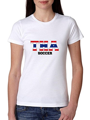 c5b6136ac965a7 Thailand Soccer - Olympic Games - Rio - Flag Women s Cotton T-Shirt