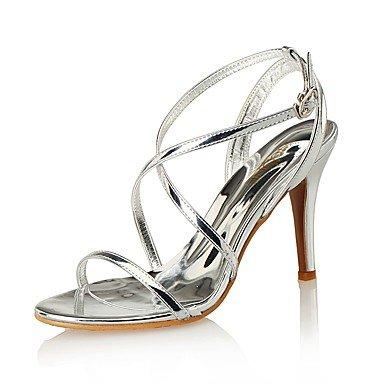 Sandales femmes Printemps Été Club Chaussures en cuir & synthétique fête de mariage robe de soirée Talon Silver