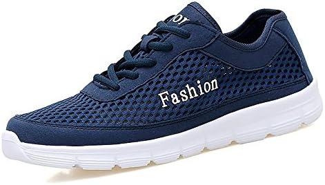 Zapatos atléticos de los Hombres Zapatillas Planas de Color sólido con Punta Redonda y Punta Estrecha