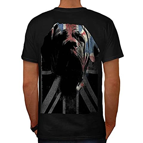 Hund Welpe Flagge Tier Vereinigtes Königreich britisch Haustier Herren S T-shirt Zurück | Wellcoda