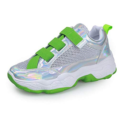 Sneakers Donna Estate Street Fashion Candy Colore Fibbia Cinturino Traspirante Femminile all'aperto Piattaforma Sneakers robuste