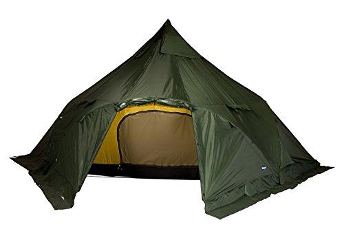 Bergans-Wiglo-6-10-Person-Tent-Green-6-10-Personen-Gerumiges-6-10-Personen-Gruppenzelt