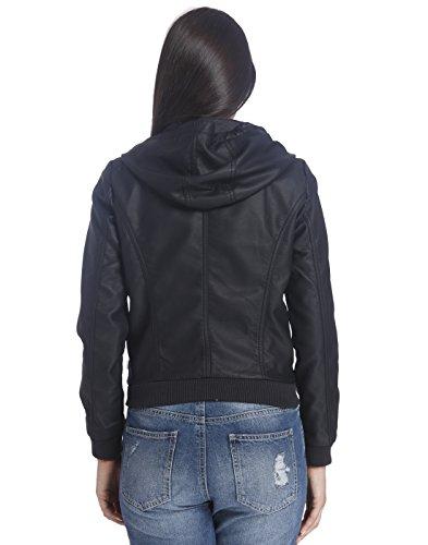 ONLY - Blouson - Veste en cuir - Femme Noir Noir Taille Unique Noir