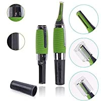 Pink Pari Personal Ear Nose Neck Eyebrow Hair Trimmer Remover - Green