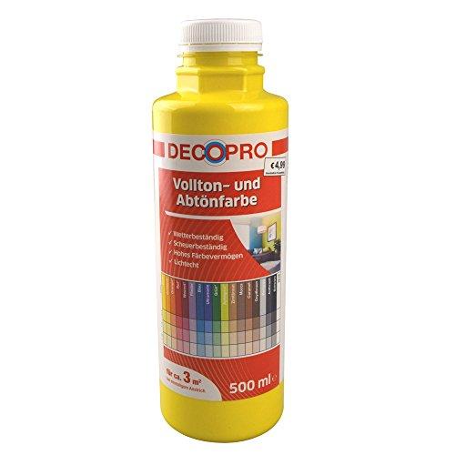 Vollton- und Abtönfarbe 500 ml ca. 3 m² gelb innen/außen DecoPro