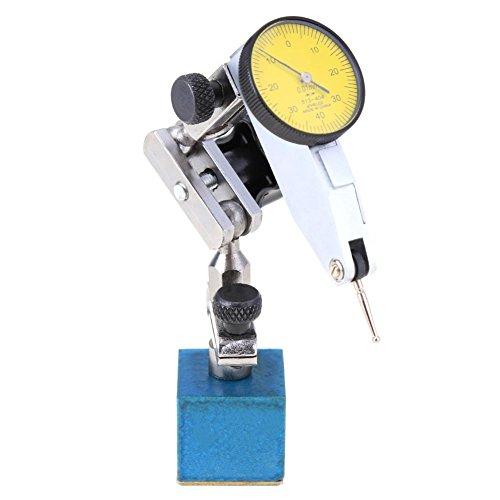 Prettygood7 Indikator-Zifferblatt + verstellbares magnetisches, wasserdichtes, stoßfestes Hebel, Metall-Basis, Digitalanzeige, Messbereich B - Mitutoyo Dial Test Indicator