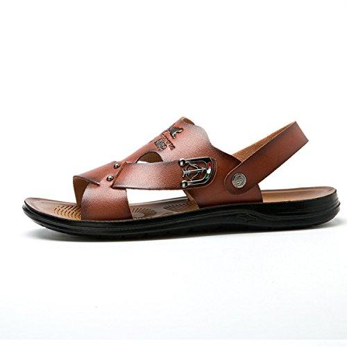 Sandales Pour Hommes Chaussures De Plage Chaussures échassiers En Plein Air Brown