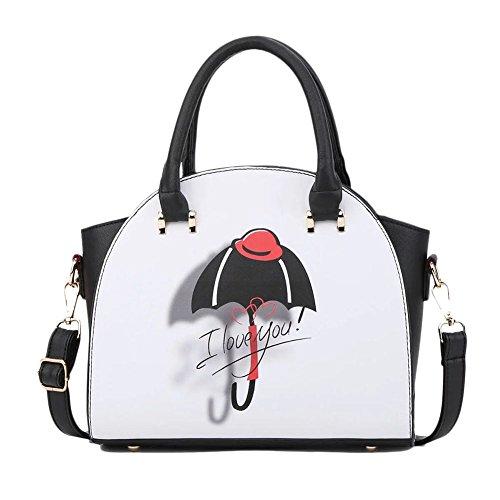 Donna Sacchetto Di Grafica stampa Spalla Casuale Della Borsa Messenger Bag Umbrella Umbrella