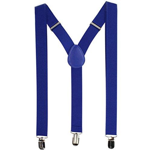 Tirantes Unisex De Color Puro Para Hombre Y Mujer Con 3 Clip Calzonarias Del Color Sólido Correa Elástica Ajustable (8)