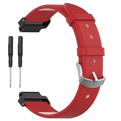 Unisex Premium Leder (getherad Premium Leder Ersatz Armband, Echtes Lederarmband Für Garmin Forerunner 220 230 235 630 620 735 Smart Sportuhr, Armband Armband Unisex Und Mehrere Farben)