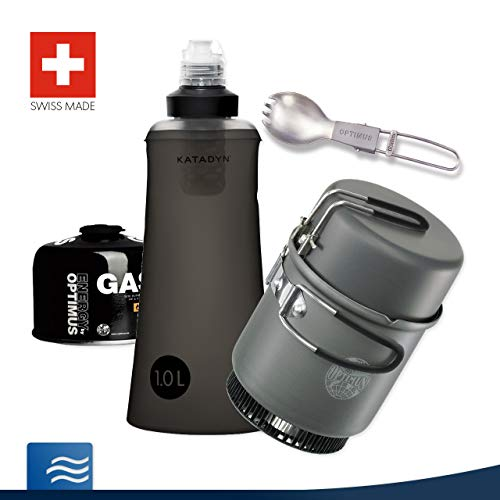 Katadyn Notfall-Set Trekking I - Wasseraufbereitung Kocher Brennstoff Wasserfilter Besteck