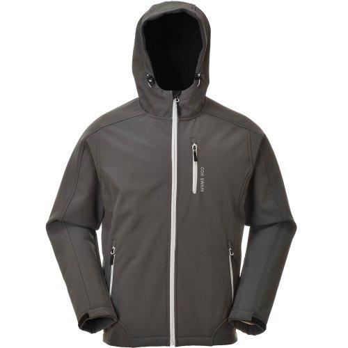 Cox Swain Herren 3-Lagen Hi-TEC Softshell Jacke Torro - 10.000mm Wassersäule - 2.000mm atmungsaktiv, Colour: Grey/Light Grey Zipper, Size: S Softshell Jacke Light