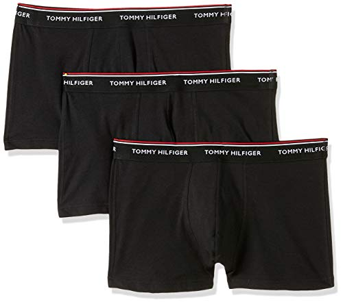 9782d8111040 Tommy Hilfiger Men's 3p Trunk Boxer Shorts, Black, Medium (Pack of ...