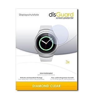 """3 x disGuard® Schutzfolie Samsung Gear S2 classic Displayschutz Folie """"DiamondClear"""" unsichtbar"""