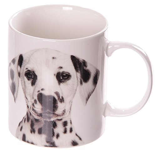 Puckator MUG174 Mug Design Dalmatien Porcelaine Noir/Blanc