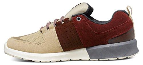DC Shoes  Herren Schuhe Lynx Lite Se, Chaussures de Skateboard Homme Multicolore (Burgundy/Tan BT3)