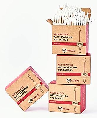 99PANDAS® nachhaltige Bambus-Wattestäbchen im