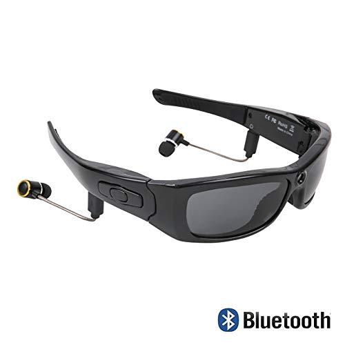 LIGHTOP Bluetoothe Kamera Brille UV400 Stereo Bluetooth Headset Kopfhörer Cam polarisierte Sonnenbrille mit Kamera Weitwinkel 120 Grad für Radfahren Motorad Bike