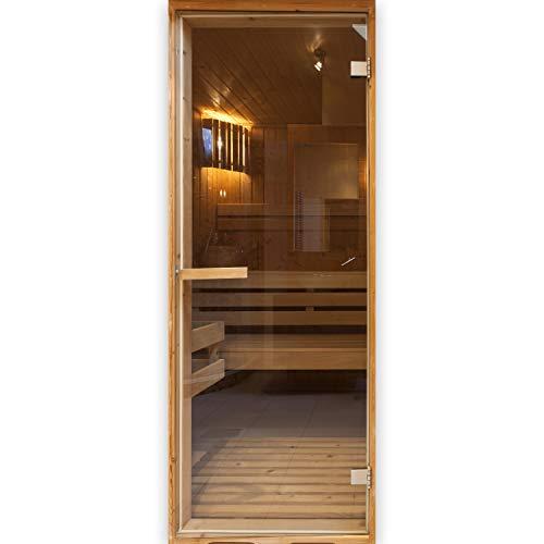 (murando - Türtapete selbstklebend 80x210 cm Vliesleinwand Fototapete Tapete Türpanel Türposter Türaufkleber Türsticker Tür Dekoration Foto Bild Design Sauna braun n-B-0022-a-d)