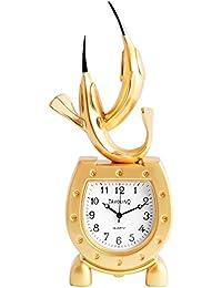 Dawn Analog Reloj en miniatura mesa Reloj Reloj de pie con mecanismo de cuarzo y diseño delfín delfín 300402000001Oro Coloreado Carcasa 11,8cm