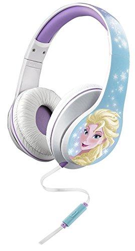Frozen sobre la oreja los auriculares con micrófono incorporado permiten recibir llamadas cuando se escuchan en un teléfono inteligente