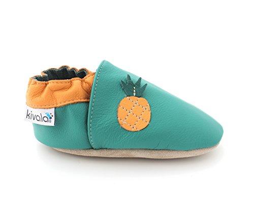 Kivala - Chaussons Cuir Souple Ananas