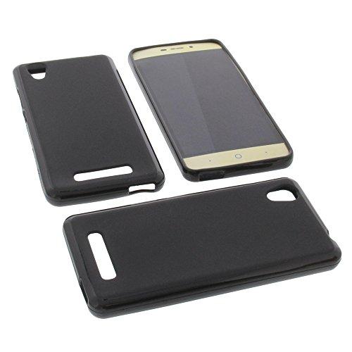 foto-kontor Tasche für ZTE Blade A452 Gummi TPU Schutz Hülle Handytasche schwarz
