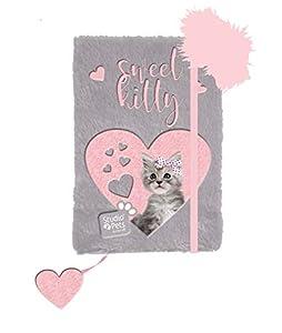 FACTORYCR- Diario con boligrafo a5 Cat Plush plc3673, 80h Rayas Studio Pets,, 16x21x3,5 cms (PLC-3673)