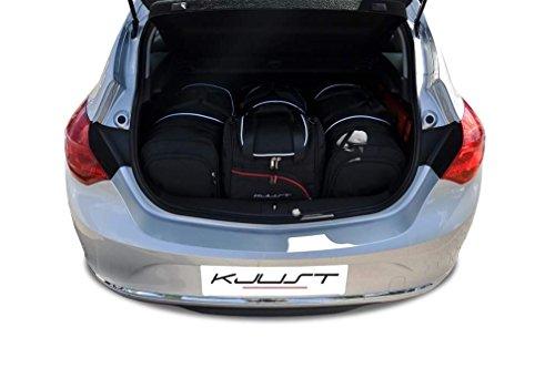 KJUST Reisetaschen 4 STK Set kompatibel mit OPEL Astra Hatchback J 2009-2015