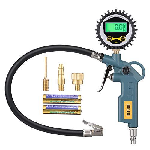 URCERI Reifendruckmesser Digitaler, 200PSI Reifendruckprüfer,Genauigkeit ± 1%,LCD-Display, Reifenfüller,Inflation, Deflation und Reifendrucküberwachung für Autos und Fahrräder