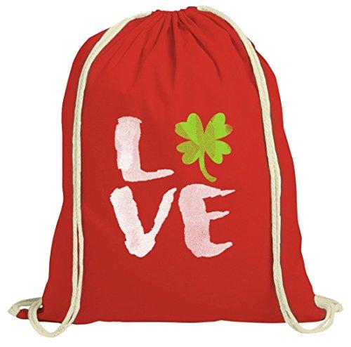 Giorno Di San Patrizio Patricks Day Natur Rucksack Turnbeutel Love St. Patricks Day Rot Natur