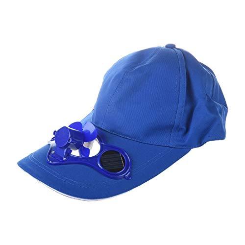 Girl Power Cap (Gekühlte Baseballhütte Outdoor-Baseballmütze Lüfter Lüfterhaube Sommer-Lüfterhut (Blau))