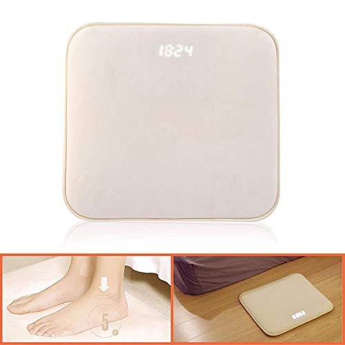 ZEMER Smart Alarm Digitaler Wecker Bettvorleger Fußmatte Teppich Läufer mit LED Display und individuelle Töne mit USB einfach aufstehen (Teppich-wecker)