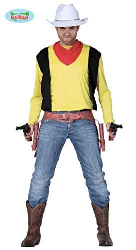 Herren Shirt und Tuch Wilder Westen Joey Cowboy Gr. M/L (Wilder Westen Revolverheld Kostüm)